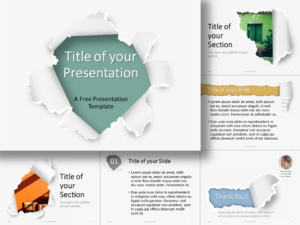 Free Torn Paper Template for Google Slides and PowerPoint