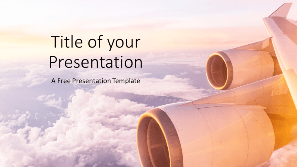 Free Airplane Window Views Template for Google Slides - Cover Slide