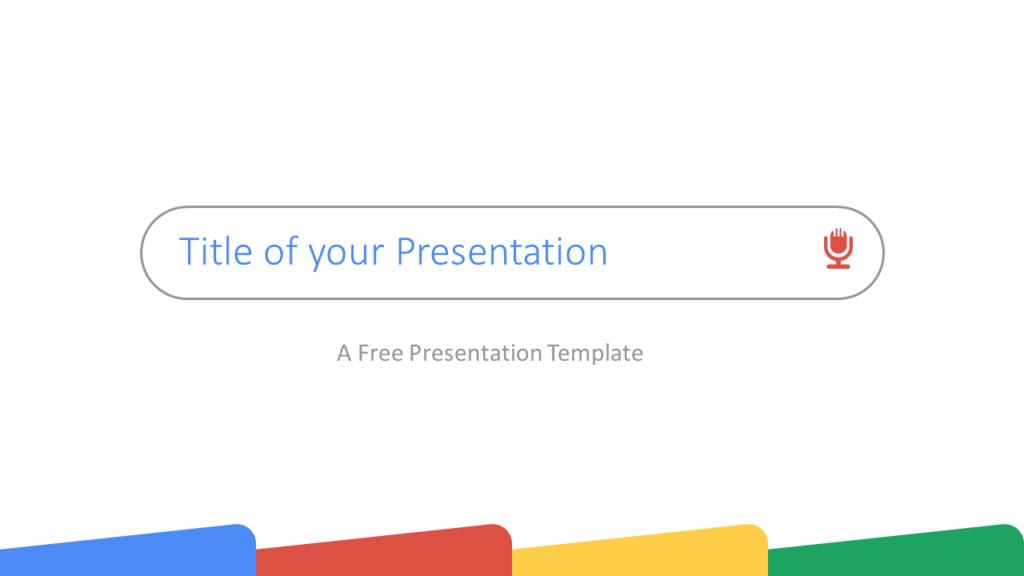 Free CHROME Template for Google Slides - Cover Slide