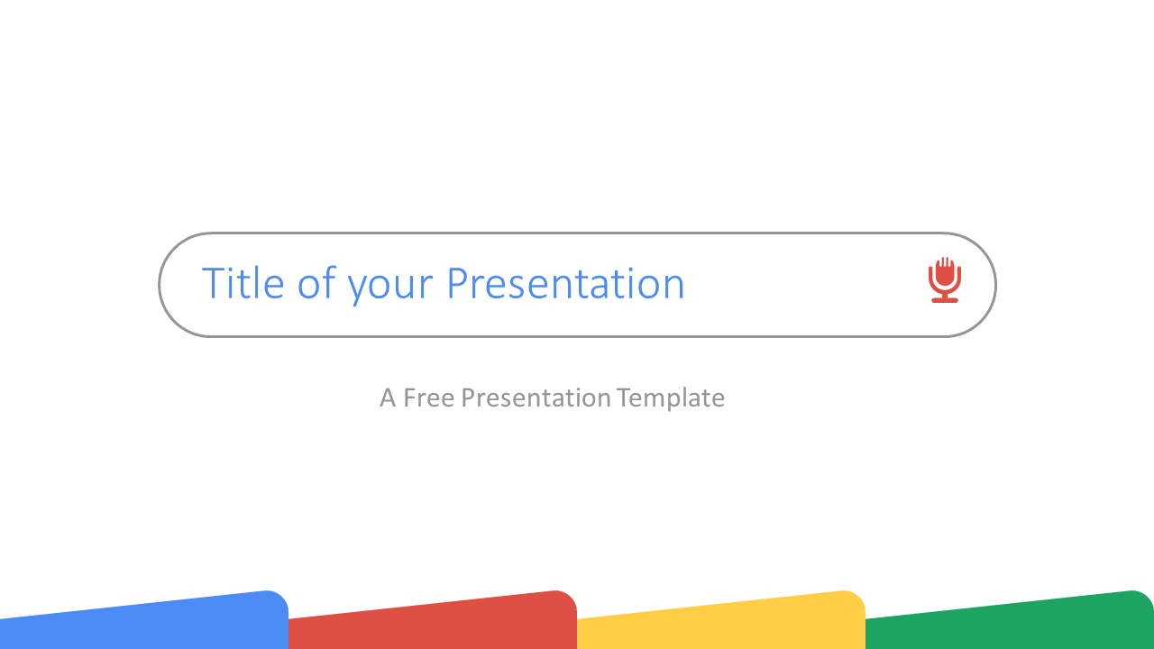 Free CHROME Template for Google Slides - Cover Slide