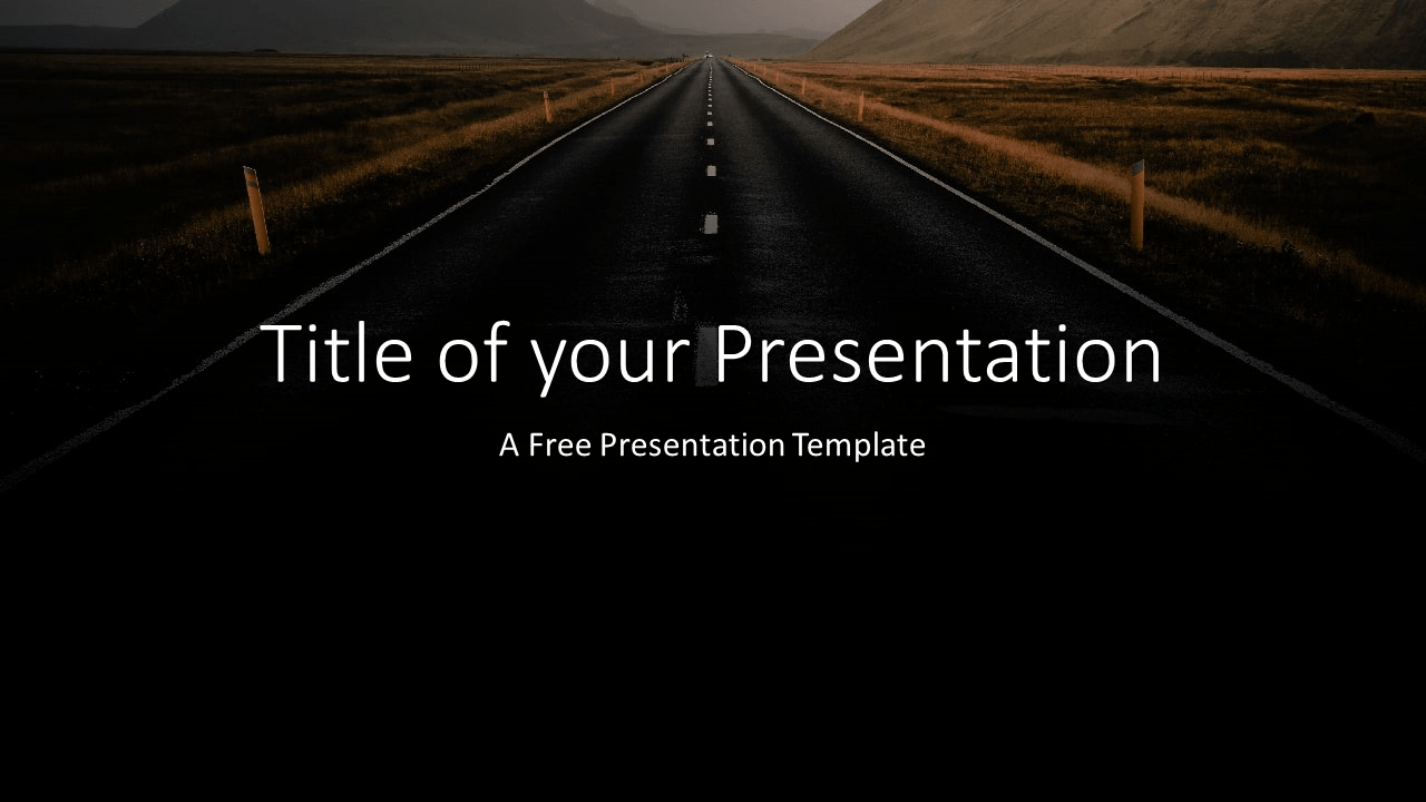 Free DARK ROADS Template for Google Slides - Cover Slide