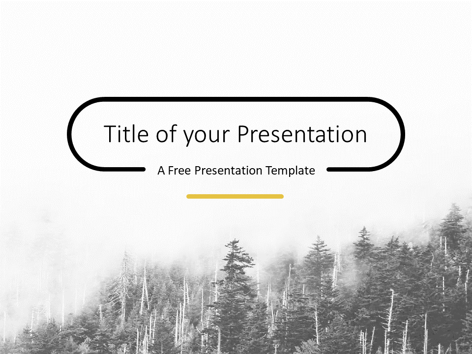 Free Foggy Forest Template for PowerPoint - Cover Slide