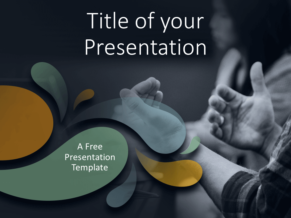 Free Office Drops Template for PowerPoint - Cover