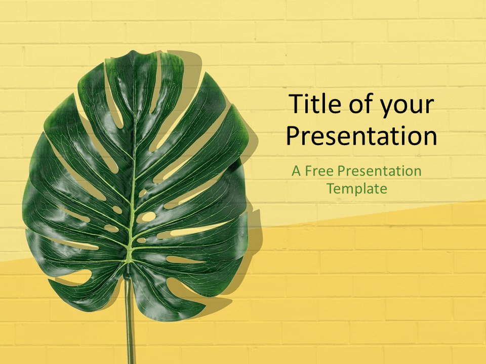 Free Pop Brick Template for PowerPoint - Cover Slide