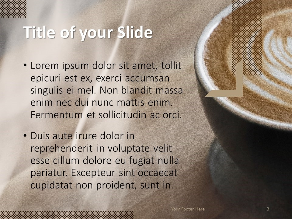 Free BARISTA Template for PowerPoint – Title and Content (Variant 2)