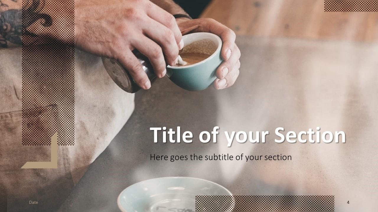 Free BARISTA Template for Google Slides – Section Slide (Variant 1)