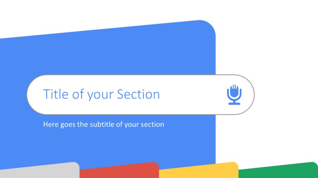 Free CHROME Template for Google Slides – Section Slide (Variant 1)