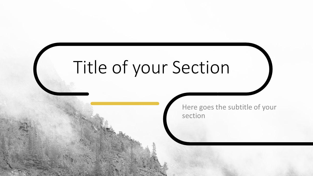Free Foggy Forest Template for Google Slides – Section Slide (Variant 1)