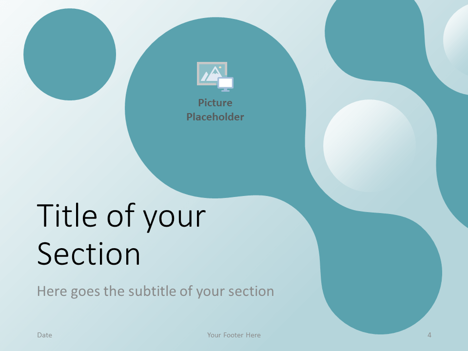 Free Molecular Template for PowerPoint - Section Slide (variant 1)