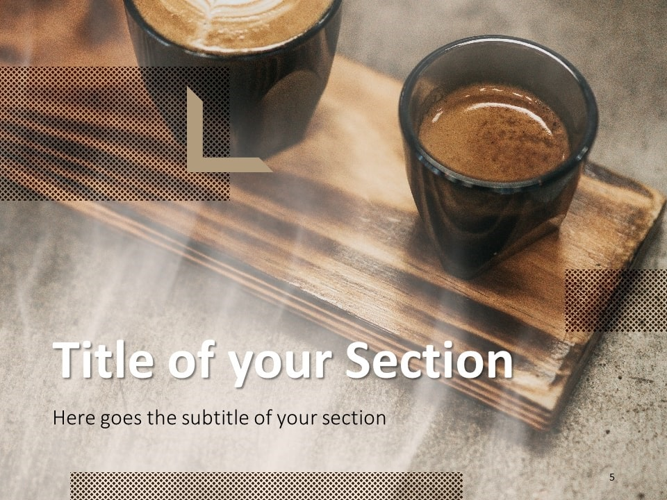 Free BARISTA Template for PowerPoint – Section Slide (Variant 2)