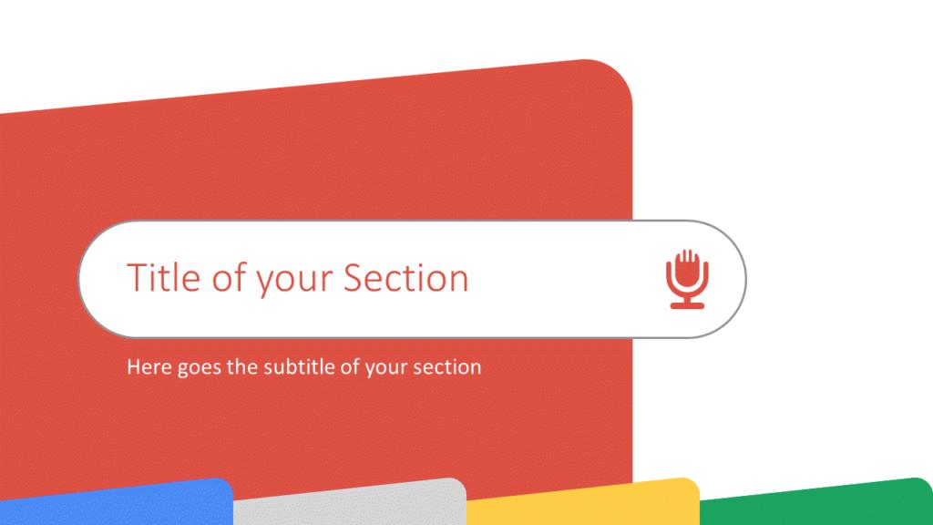 Free CHROME Template for Google Slides – Section Slide (Variant 2)