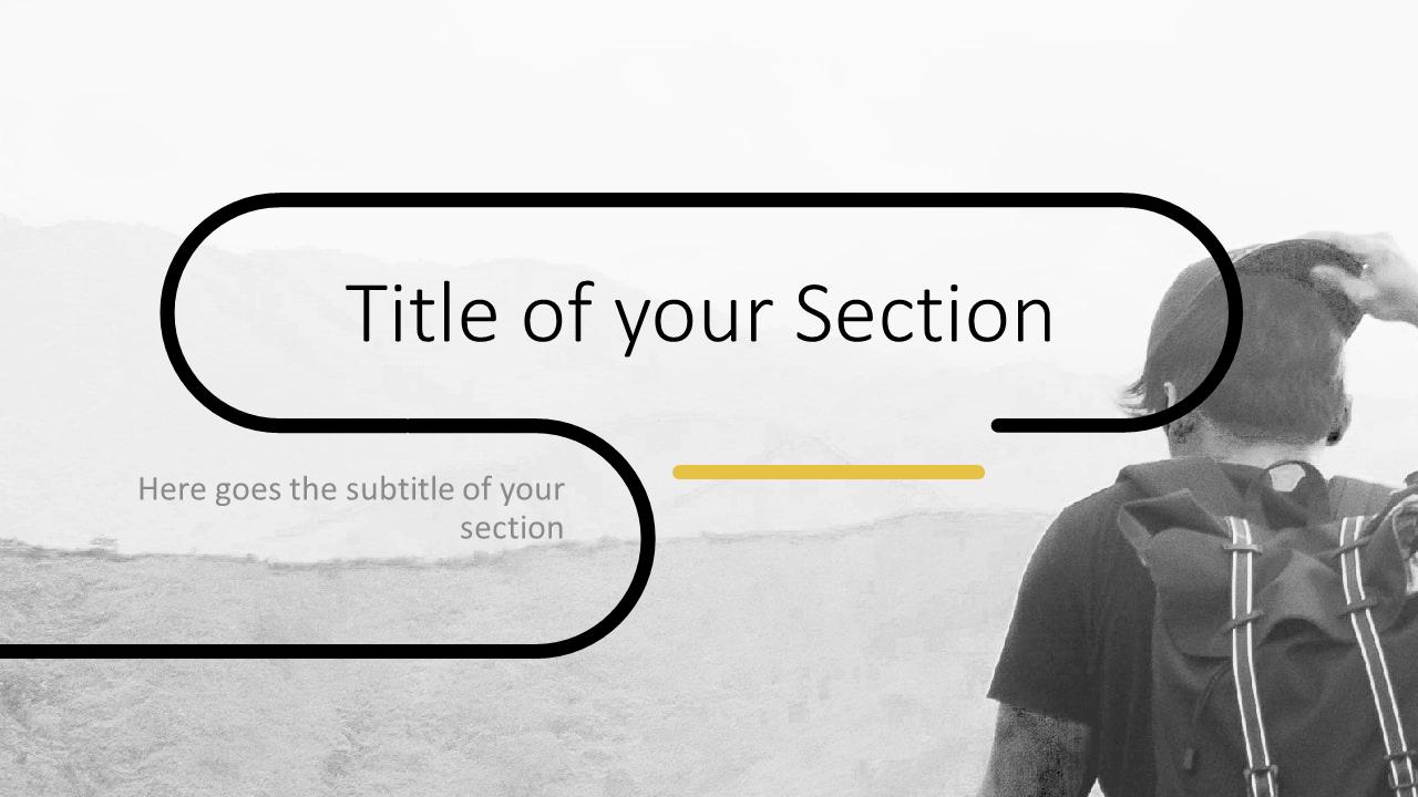 Free Foggy Forest Template for Google Slides – Section Slide (Variant 2)