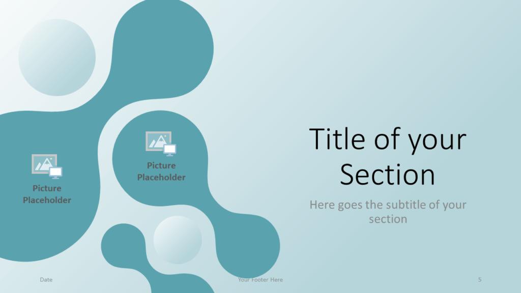 Free Molecular Template for Google Slides - Section Slide (variant 2)