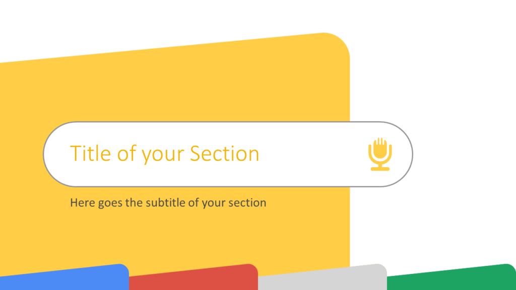 Free CHROME Template for Google Slides – Section Slide (Variant 3)