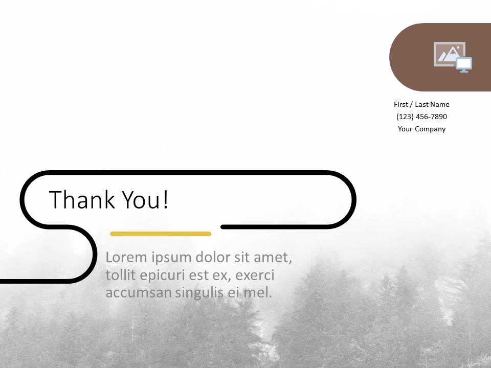 Free Foggy Forest Template for PowerPoint - Closing / Thank you