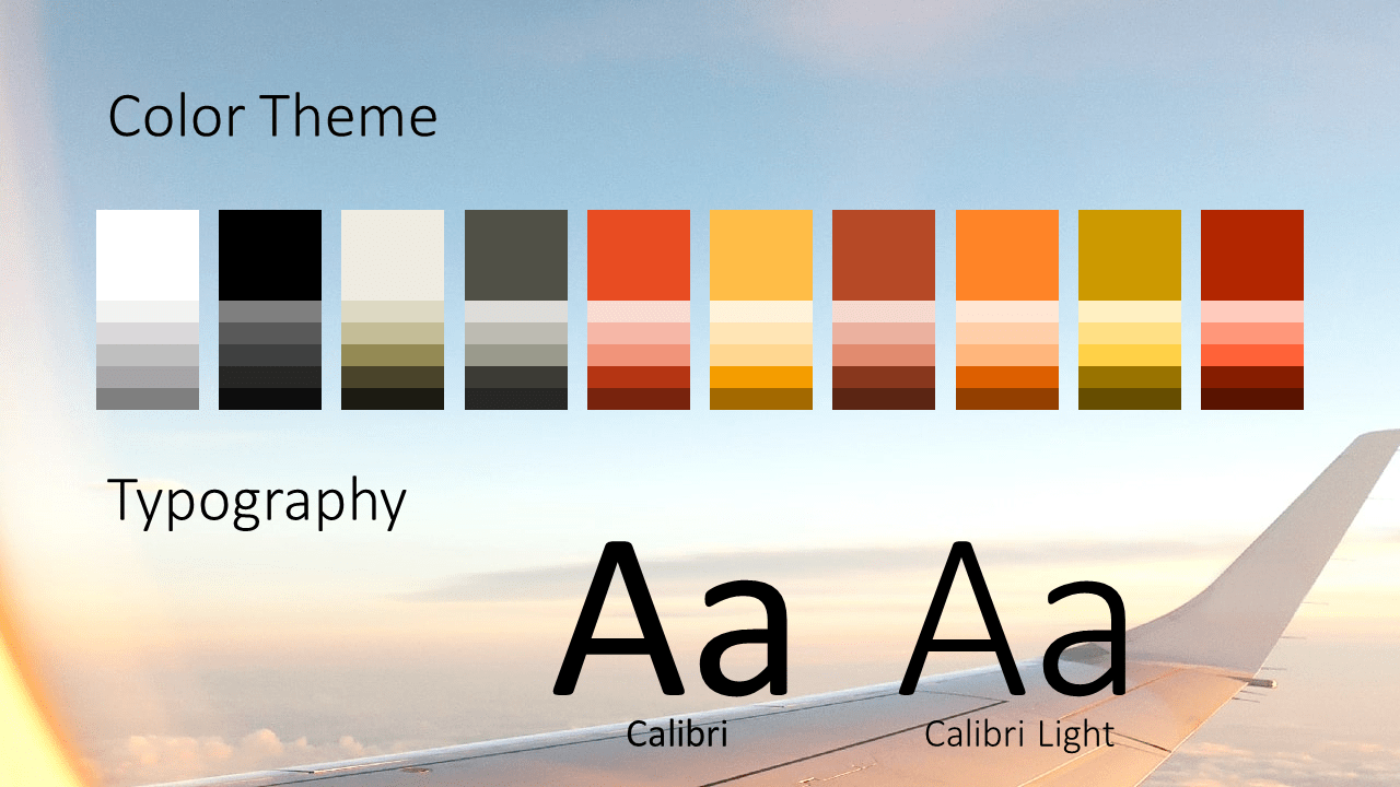 Free Airplane Window Views Template for Google Slides – Colors and Fonts