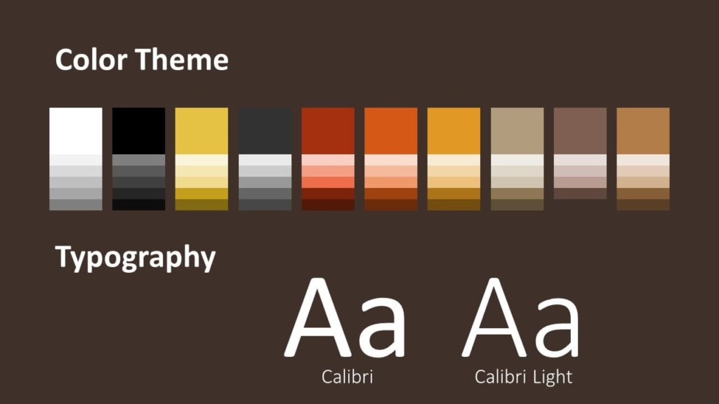 Free BARISTA Template for Google Slides – Colors and Fonts