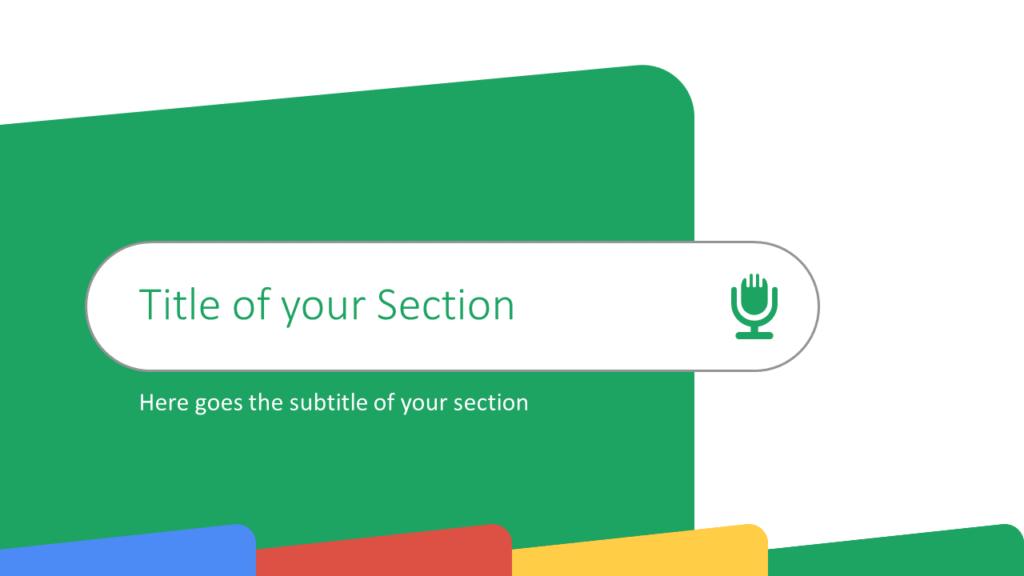 Free CHROME Template for Google Slides – Section Slide (Variant 4)