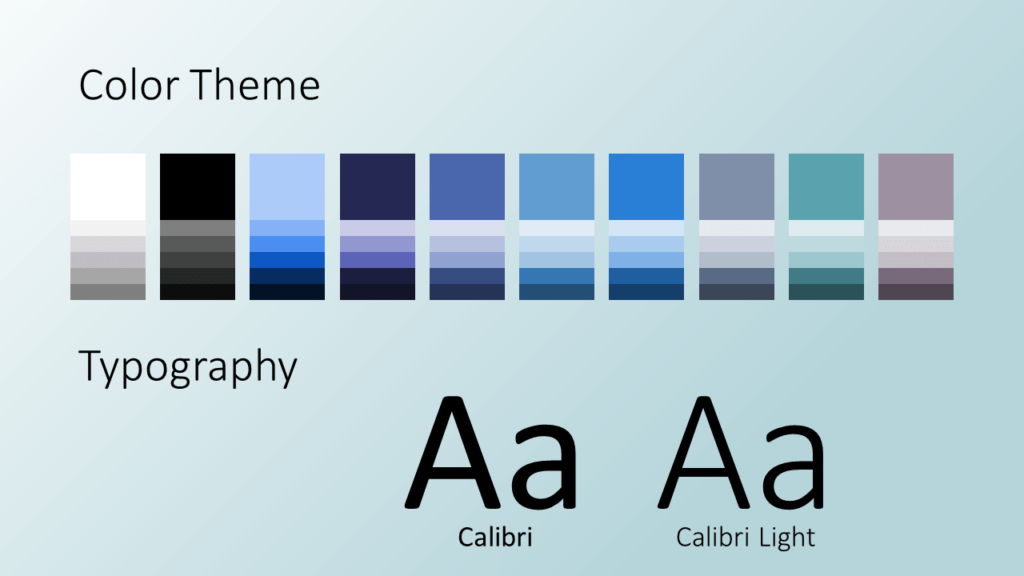 Free Molecular Template for Google Slides - Colors and Fonts