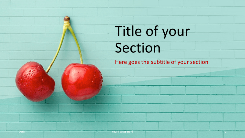 Free Pop Brick Template for Google Slides - Title Section (variant 2)