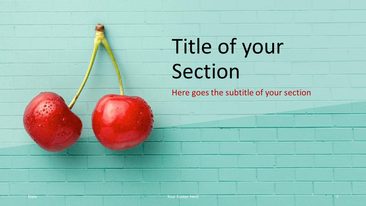 Free Pop Brick Template for Google Slides - Section Slide (variant 2)