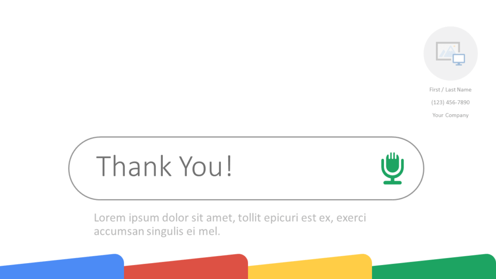 Free CHROME Template for Google Slides - Closing / Thank you