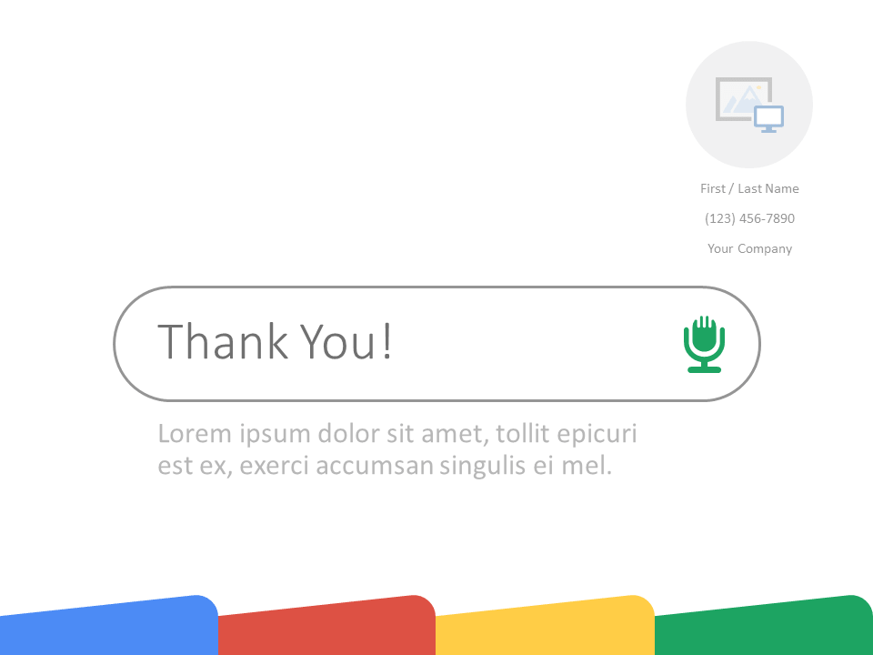Free CHROME Template for PowerPoint - Closing / Thank you