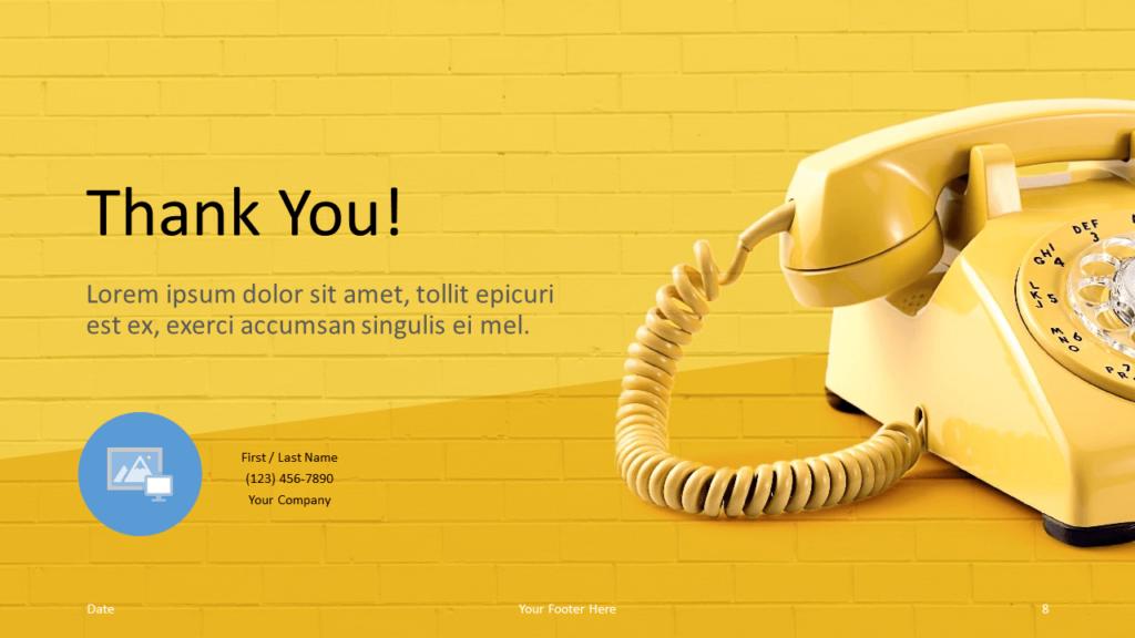 Free Pop Brick Template for Google Slides - Closing Slide