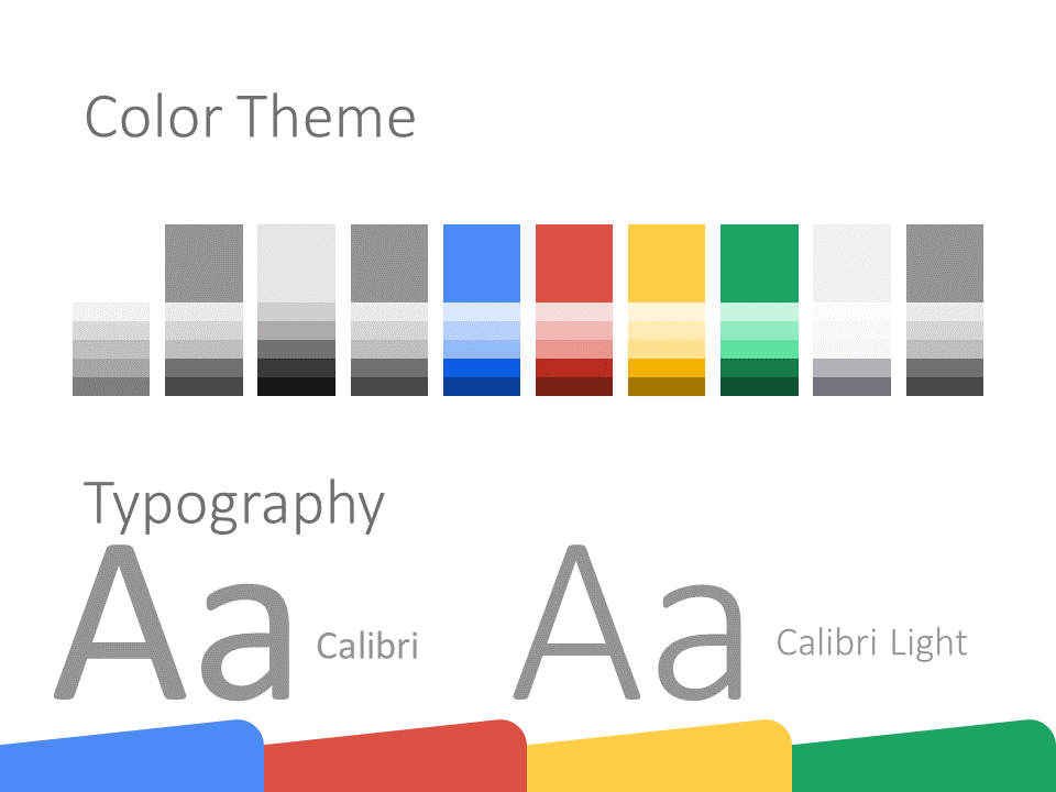 Free CHROME Template for PowerPoint – Colors and Fonts