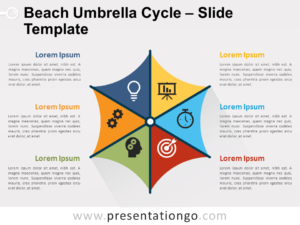 Free Beach Umbrella Cycle for PowerPoint