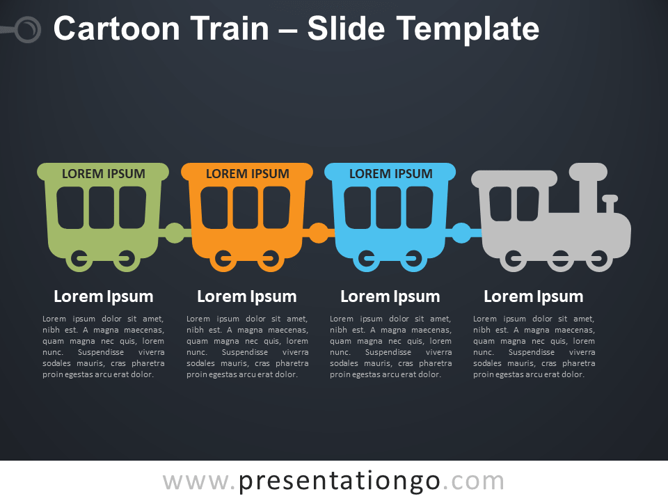 Free Cartoon Train Infographics for PowerPoint