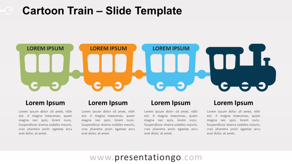 Free Cartoon Train for PowerPoint and Google Slides