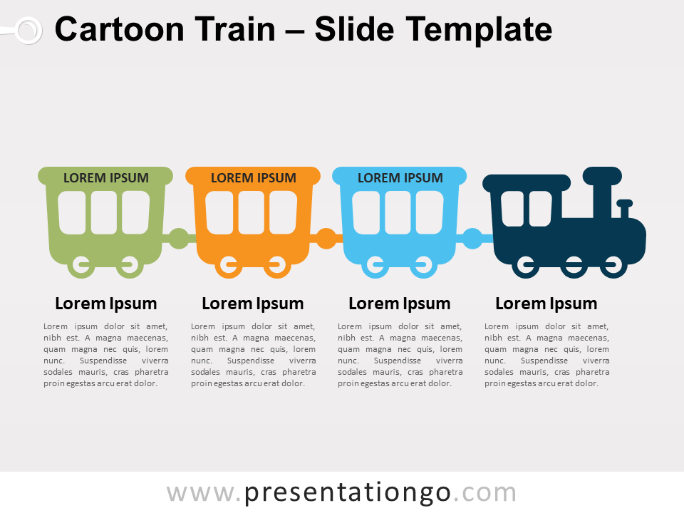 Free Cartoon Train for PowerPoint