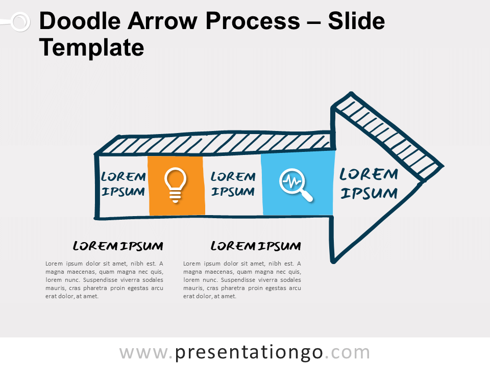 Free Doodle Arrow Process Diagram for PowerPoint