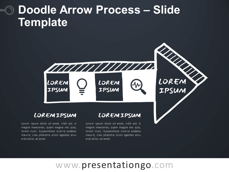 Free Doodle Arrow Process for Google Slides and PowerPoint
