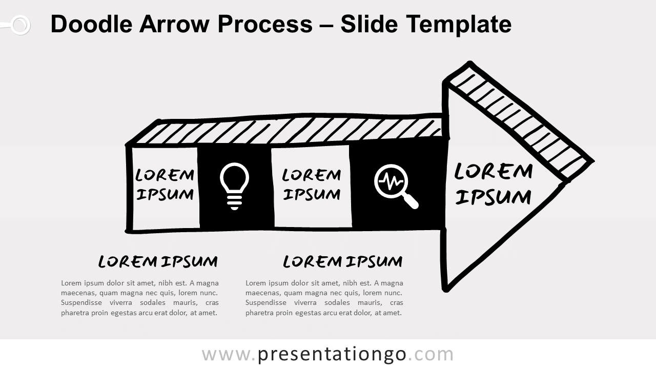 Free Doodle Arrow Process for PowerPoint and Google Slides