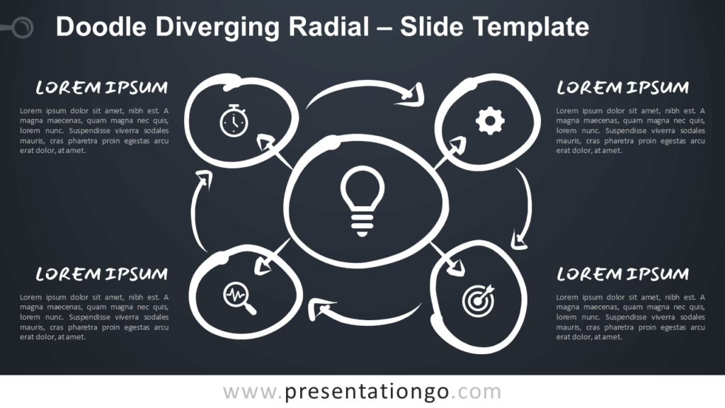 Free Doodle Diverging Radial for Google Slides
