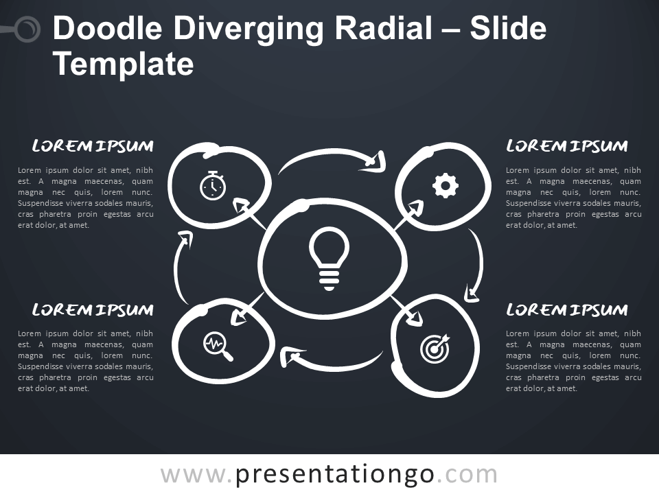 Free Doodle Diverging Radial for Google Slides and PowerPoint
