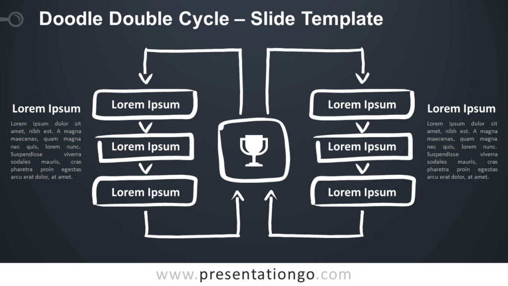 Free Doodle Double Cycle for Google Slides