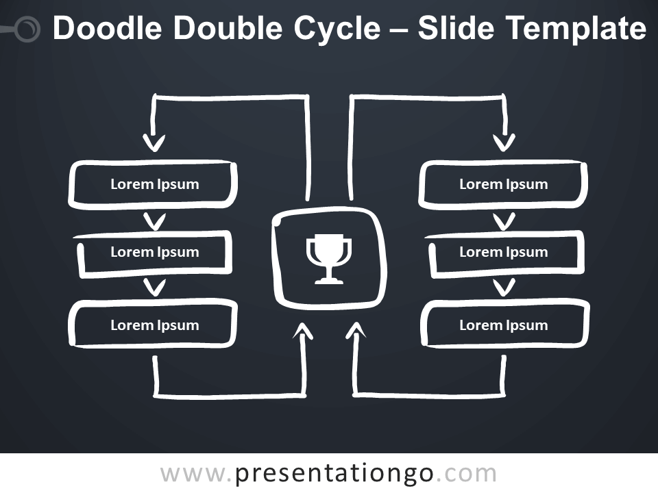 Free Doodle Double Cycle for Google Slides and PowerPoint