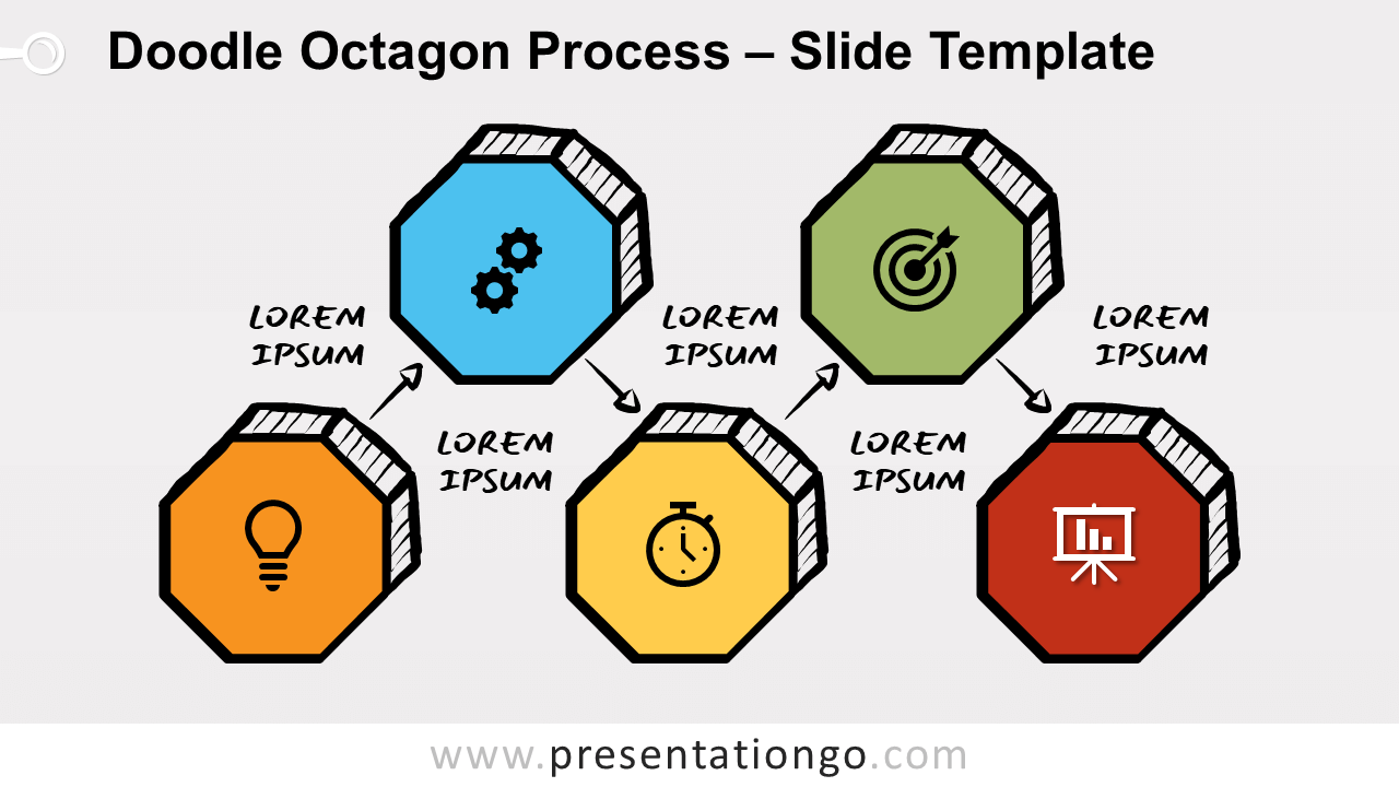 Free Doodle Octagon Process Diagram for PowerPoint and Google Slides