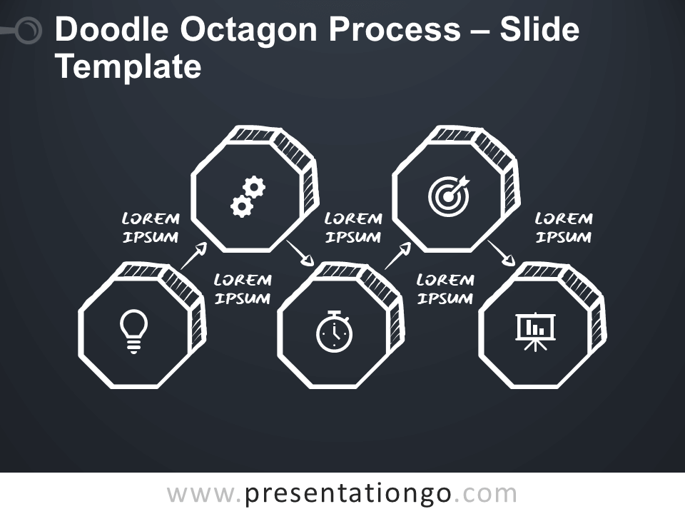 Free Doodle Octagon Process for Google Slides and PowerPoint