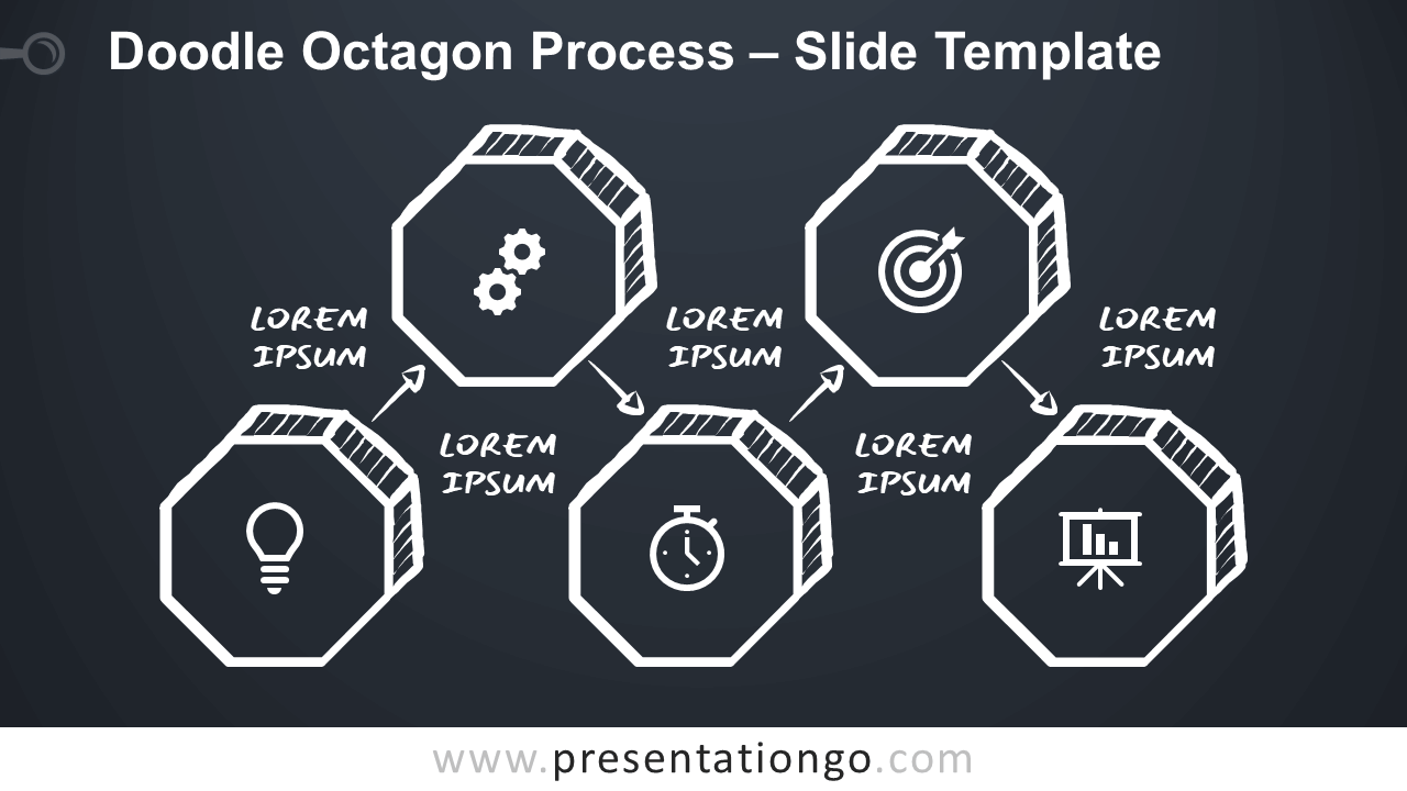 Free Doodle Octagon Process for Google Slides