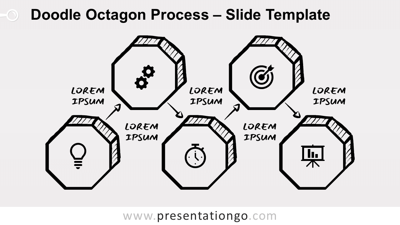 Free Doodle Octagon Process for PowerPoint and Google Slides