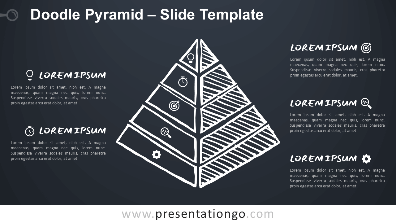 Free Doodle Pyramid for Google Slides