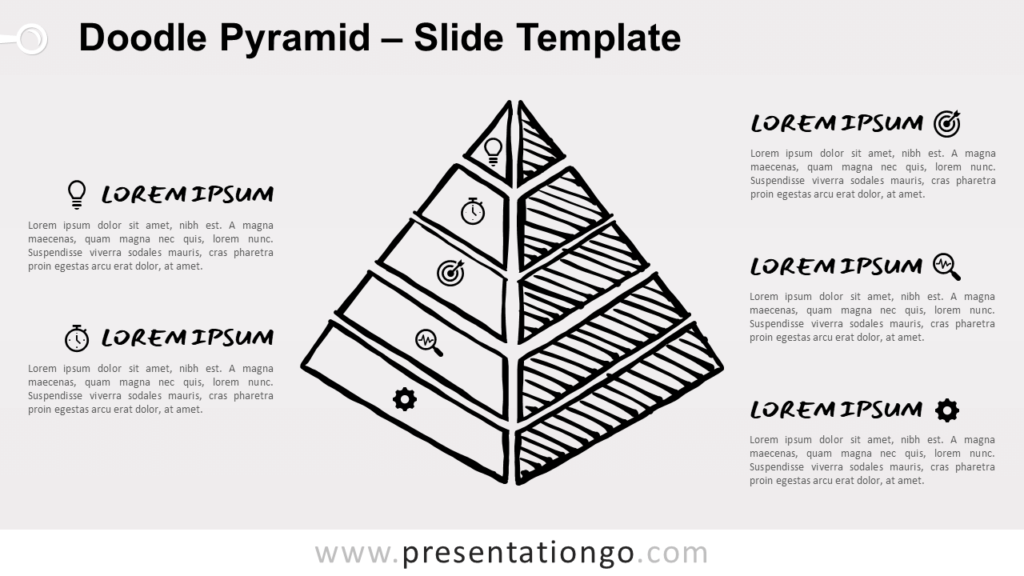 Free Doodle Pyramid for PowerPoint and Google Slides