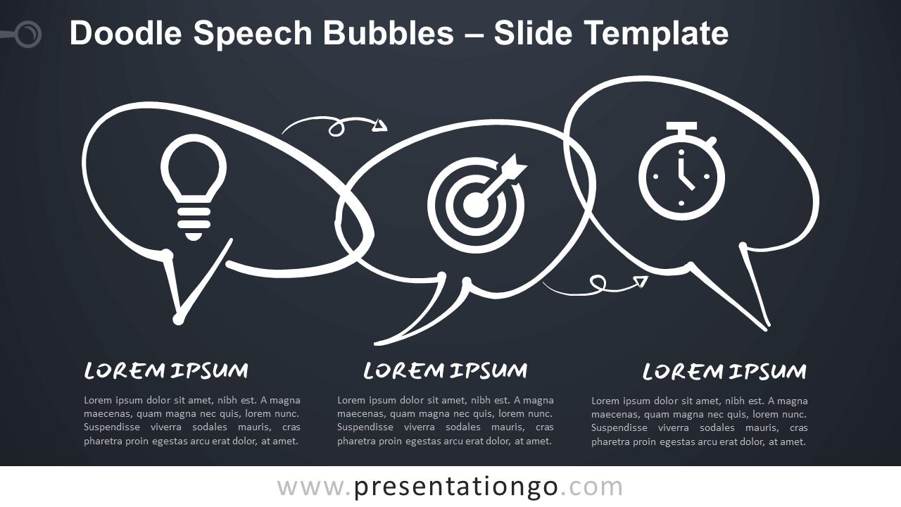 Free Doodle Speech Bubbles for Google Slides