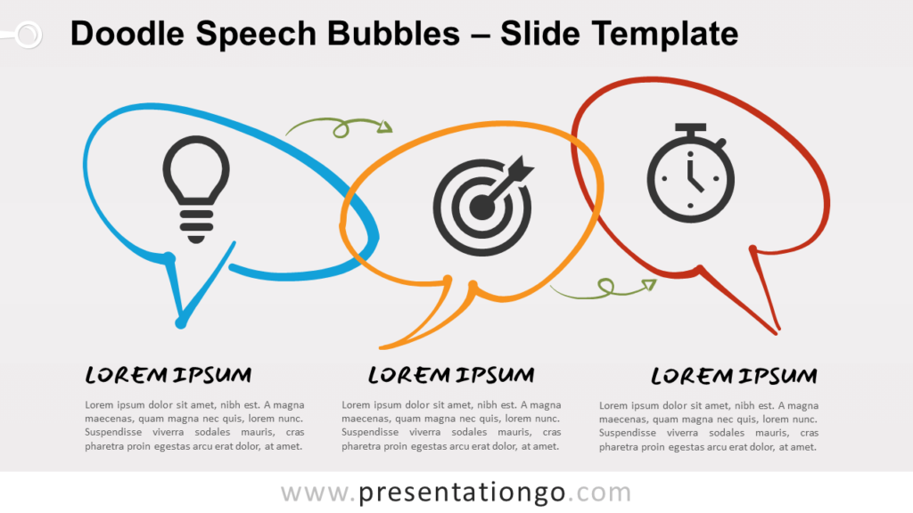 Free Doodle Speech Bubbles Infographic for PowerPoint and Google Slides