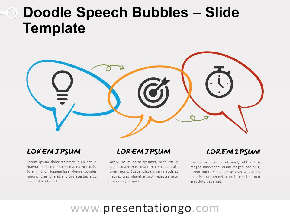 Free Doodle Speech Bubbles Infographic for PowerPoint