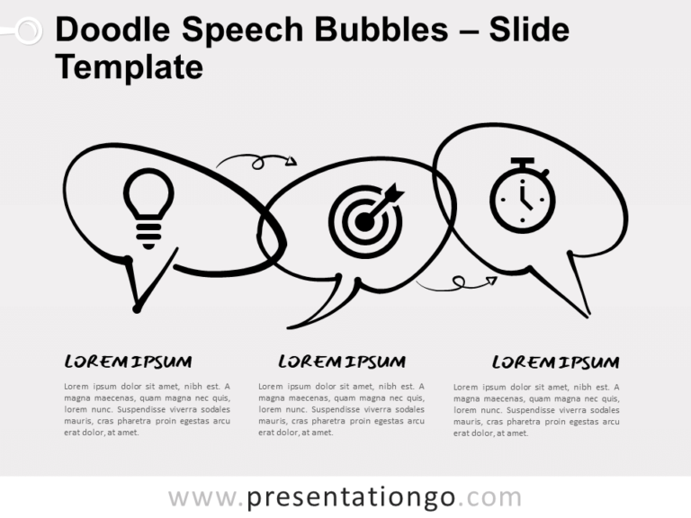 Free Doodle Speech Bubbles for PowerPoint